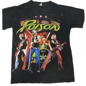 POISON Double Sided Concert Tour T Shirt S